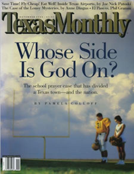 November 2000 issue cover